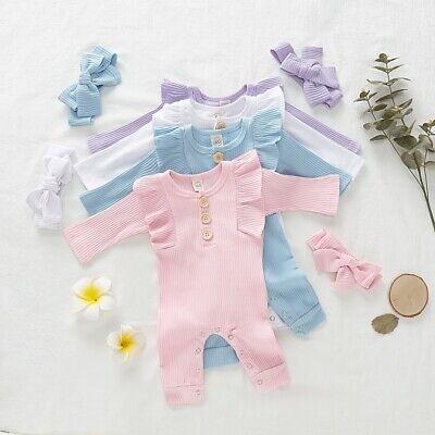 Newborn Kid Baby Boy Girl Clothes Jumpsuit Romper Bodysuit C