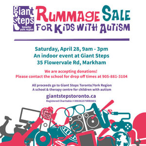 RUMMAGE SALE FOR KIDS WITH AUTISM!