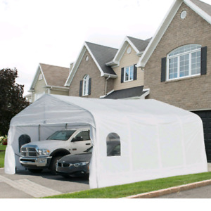 Classic 20'x20' Double Car shelter for sale