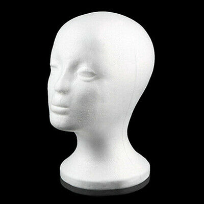 High Quality Foam Female Mannequin Head Wigs Glasses Cap Display Holder Stand Us