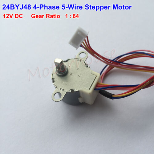 Micro Gear Stepper Motor 24BYJ48 DC12V 4 Phase 5 wire Geared box Reduction Motor