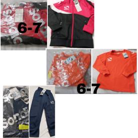 Boys 6-7 bundle of tracksuit jacket jumper bottoms sondico