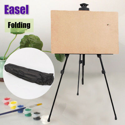 Portable Metal Table Top Drawing Poster Stand Artist Studio Painting Easel W/Bag Metal Table Easel
