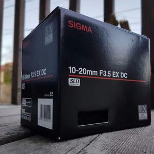 Sigma ex 10-20mm f3.5 dc hsm
