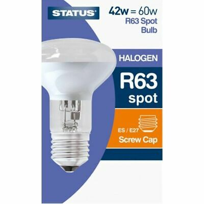 5 x STATUS R63 42W (60W) ES HALOGEN SPOT REFLECTOR LAMPS E27 LARGE SCREW Spot Lamp 60w Screw
