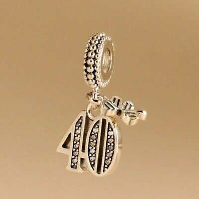 Authentic Pandora Charm 791288 S925 ALE 40 Years of Love Pendant