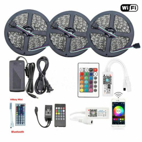 5050 RGB SMD Waterproof LED Strip Lights+Bluetooth WiFi Remo