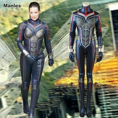 Ant-Man and the Wasp 2 Hope Van Dyne Costume Halloween Cosplay Jumpsuit Props](The Wasp Halloween Costume)