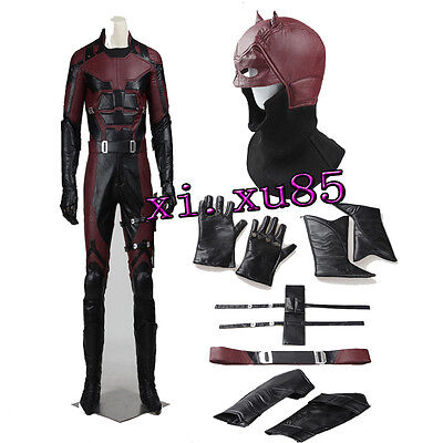 2016 Movie Superhero Daredevil Matt Murdoc Cosplay Costume Custom Made Full Suit for sale  China