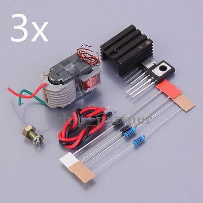 3x 15kv High Voltage Pulse Generator Arc Ignition Coil Module Diy Kits 3.7-4.2v