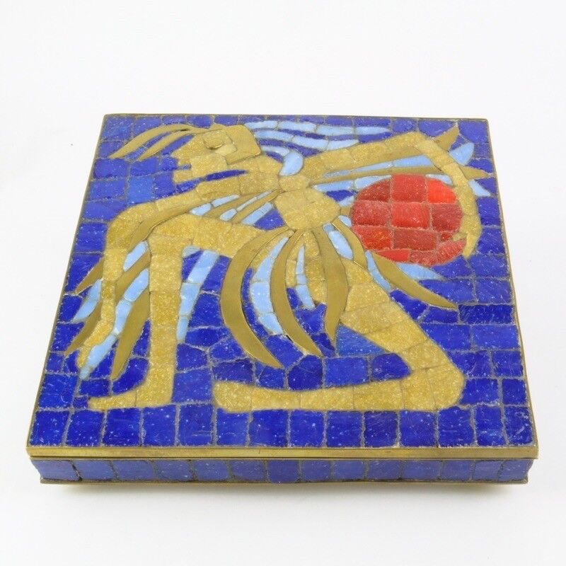 Salvador Vaca Teran Handwrought Tile Box Mexico