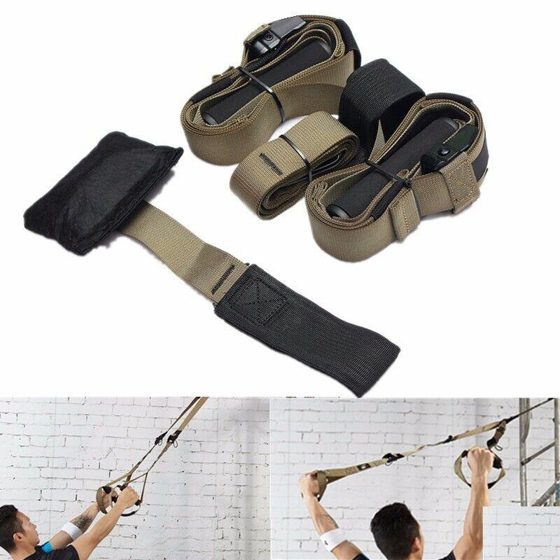 gym yoga training suspension strap set full