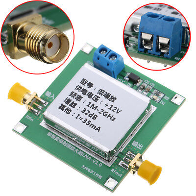 0.012000mhz 2ghz 32db Low Noise Amplifier Dc Broadband Lna Rf Module Uhf Hf Vhf