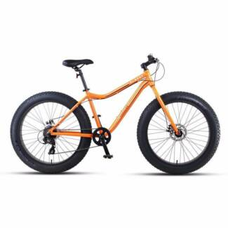 "Progear Albert 26 x 17"" Fat Tyre Mens Bike Orange Crush"