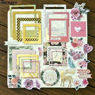 - 30pcs Photo Frames Colorful Cardstock Die Cuts for Scrapbooking  Making