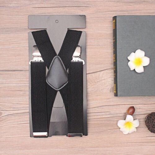 Braces Highly Elastic Suspenders Heavy Duty Trouser Style 40mm Adjustable Men