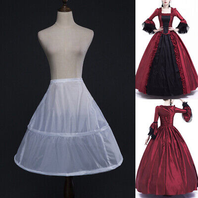 Ladies Vintage Medieval Victorian Gothic Steampunk Costume Solid A-line Skirts