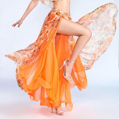 C256 Sexy Damen Bauchtanz Kostüm Rock  - Rosa Damen Tanz Kostüm