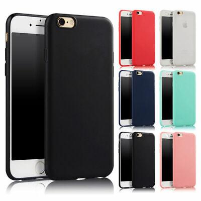 Apple iPhone SE (2020) Handy Hülle Silikon Case Cover Bumper Handytasche Matt