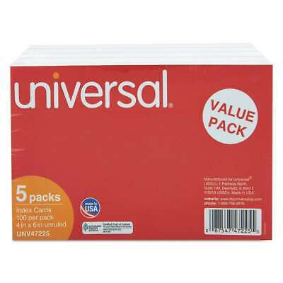 Universal Unruled Index Cards 4 X 6 White 500pack 087547472255