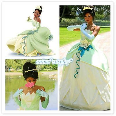 Tiana Princess Dress Costume Party Dress From The Princess And The Frog - Princess Tiana Costume Adult