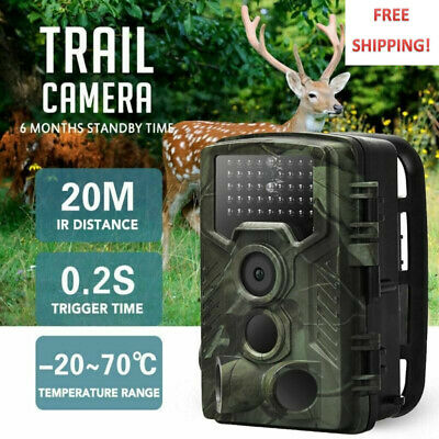1080P 20MP Hunting 0.3S Trail Camera Wildlife Scouting IR Night Vision outdoor