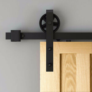 Modern or rustic soft close barn door hardware London Ontario image 7