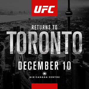 UFC 206 : Toronto Tickets **Air Canada Centre** First Row Uppers