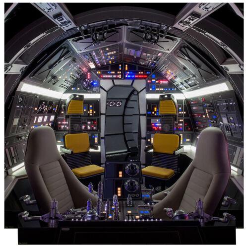 MILLENNIUM FALCON COCKPIT Star Wars CARDBOARD CUTOUT Standup Standee Set Solo
