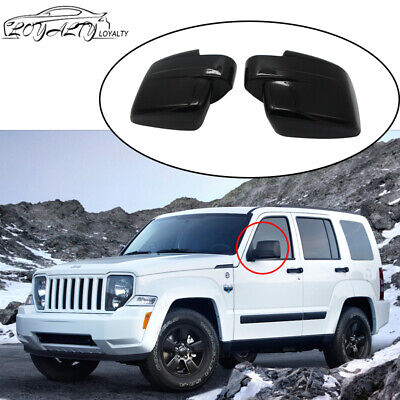Black For 2008-2012 JEEP LIBERTY + 2007-2012 DODGE NITRO Side View Mirror Covers