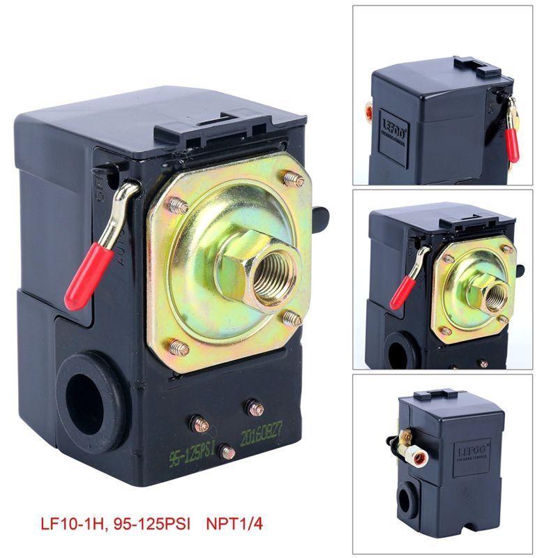 Air Compressor Pressure Switch 95-125 PSI ,LEFOO Pressure Control US Free Ship