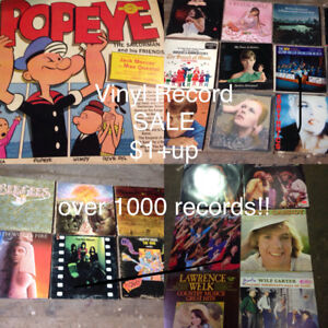 Vinyl Records NEW ARRIVALS $1+up, over 1000 records !!