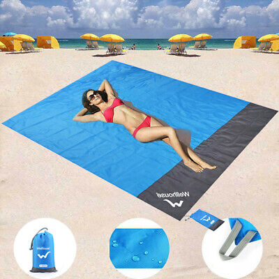 Sand Free Beach Mat Outdoor Picnic Blanket Rug Sandless Mattress Pad 210 x 200cm](Beach Mat)