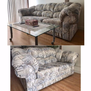 Sofa, loveseat, and coffee table in great condition.