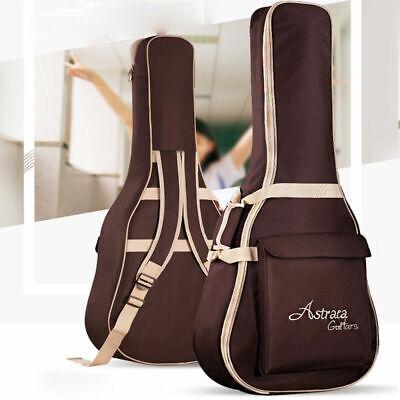 """Acoustic Guitar Bag Strap Padded Soft Case Gig Bag For 39"""" 40"""" 41"""" Guitar Brown"""