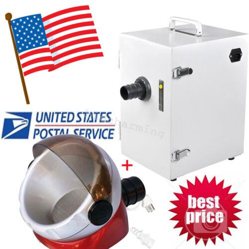 USA-Dental Lab Digital Single-Row Dust Collector Vacuum Cleaner 370W 110V/220V