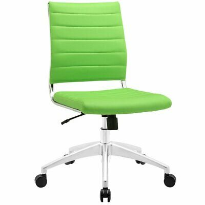 Modway Jive Armless Office Chair In Bright Green