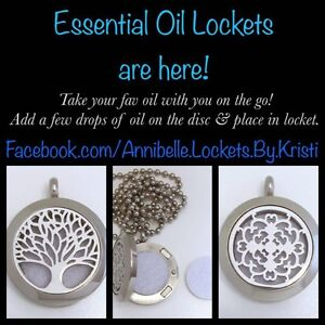 Essential Oils Locket Necklaces