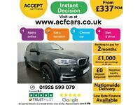2014 BLACK BMW X5 3.0 XDRIVE30D SE DIESEL AUTO 4X4 CAR FINANCE FR £337 PCM