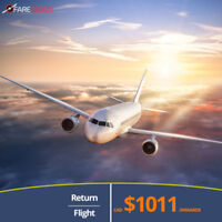 Return Flight Tickets | Vancouver- Delhi