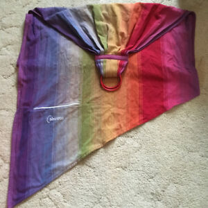 Woven wrap ring sling