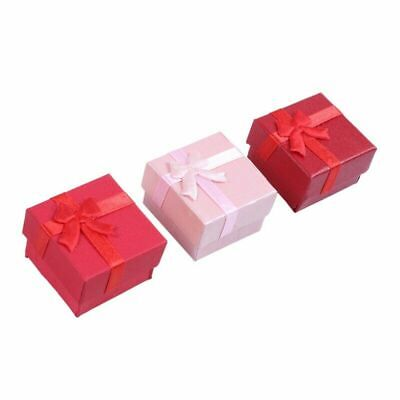 24 Pcs Gift Storage Box Cube Ring Earring Charm Jewelry Case Necklace Wedding -