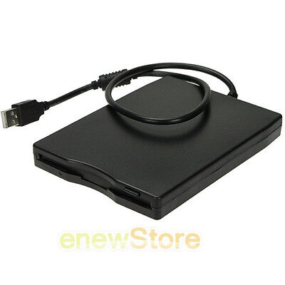 Floppy Disk Drive Disc Portable External USB 1.44 MB For PC Converter Reader