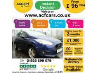 2015 BLUE FORD FIESTA 1.2 82 ZETEC PETROL MANUAL 3DR CAR FINANCE FR £96 PCM