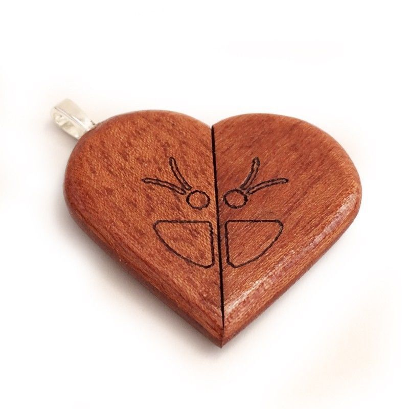 How to make a wooden heart locket ebay for How to make a wooden pendant