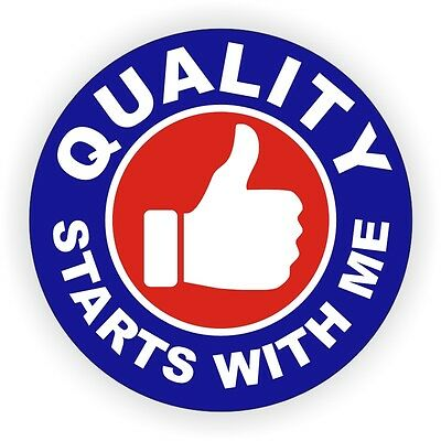 Quality Starts With Me Hard Hat Sticker Decal Label Safety Foreman Union Laborer