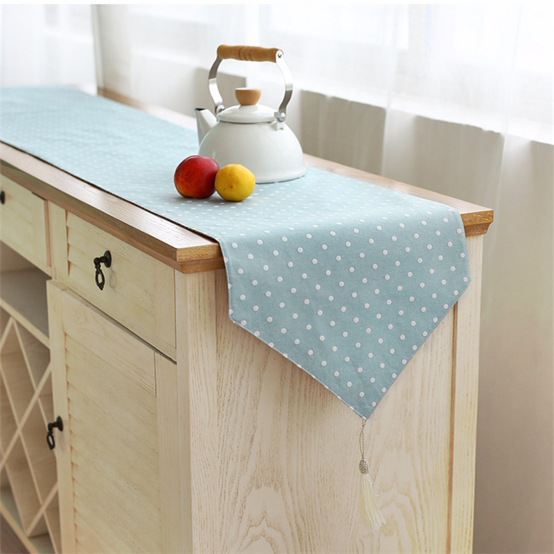 Linen Cotton Table Runner for Wedding Party Modern Table Run
