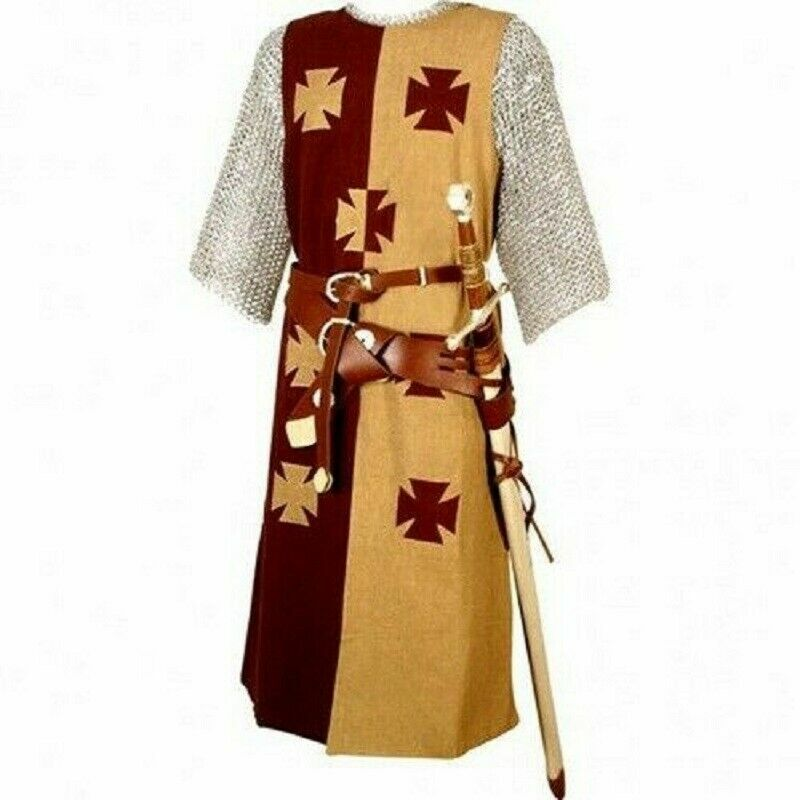MEDIEVAL 7 TEMPLAR KNIGHT Tunic Surcoat Crusader Sleeveless Renaissance SCA