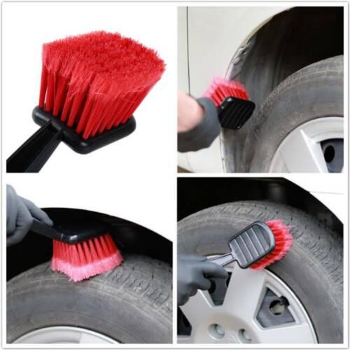 Auto Car Washing Wheel Brush Vehicle Tire Rim Cleaning Soft Handle Brush Tool