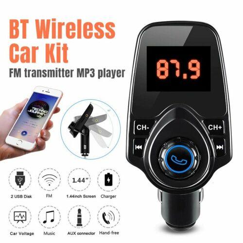 Wireless Bluetooth FM Transmitter Music Player Radio Adapter